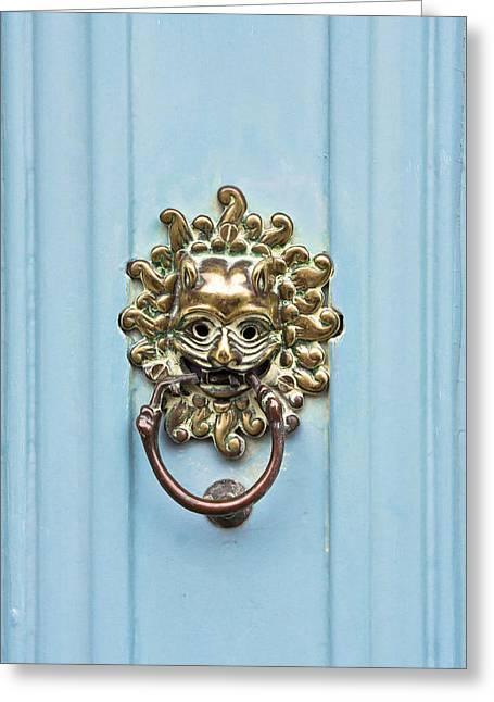 Antique Door Knocker Greeting Card by Tom Gowanlock