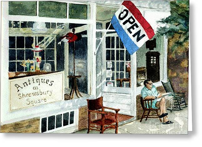 Antiques On Shrewsbury Square Greeting Card