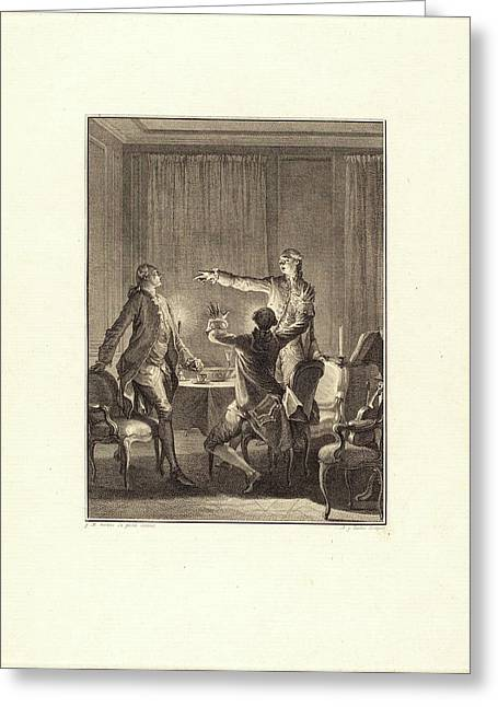 Antoine-jean Duclos After Jean-michel Moreau Greeting Card by Litz Collection