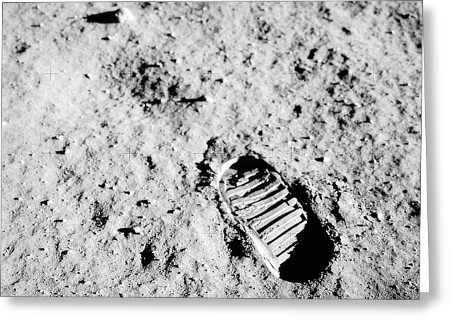 Apollo 11 Bootprint On Moon Greeting Card by Nasa