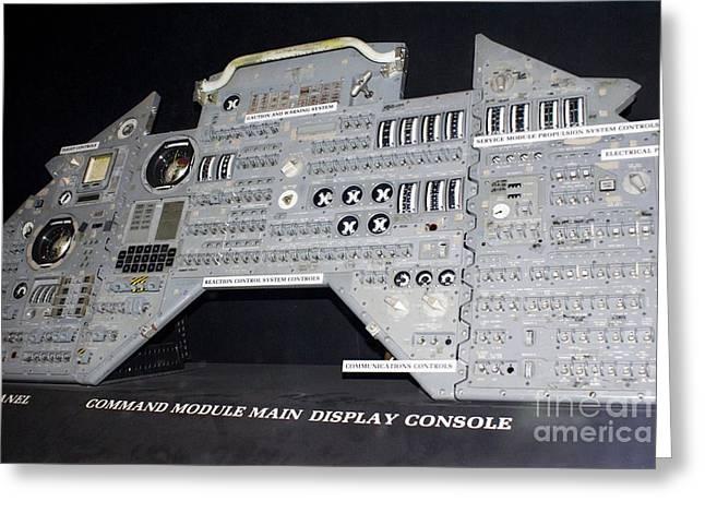 Apollo Control Panel Greeting Card by Mark Williamson