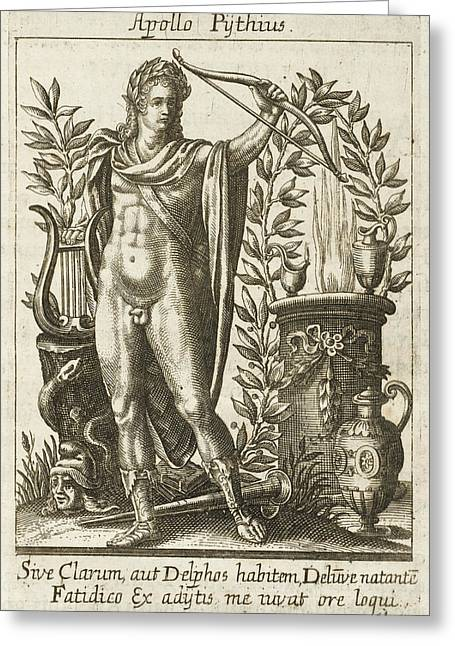 Apollo Pythias, The Greek God Greeting Card by Mary Evans Picture Library