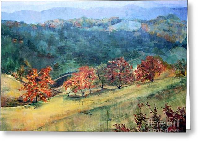 Appalachian Autumn Greeting Card by Mary Lynne Powers