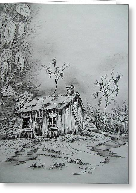 Appalachian Old Shed Greeting Card by Tom Rechsteiner