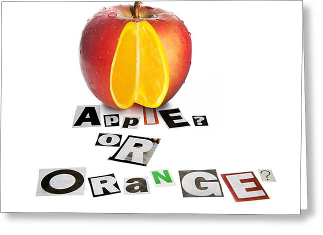 Apple Or Orange Greeting Card by Jorgo Photography - Wall Art Gallery