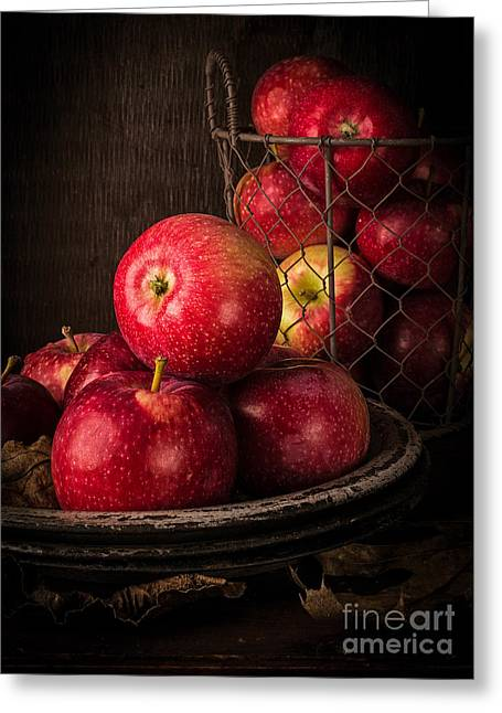 Apple Still Life Greeting Card by Edward Fielding