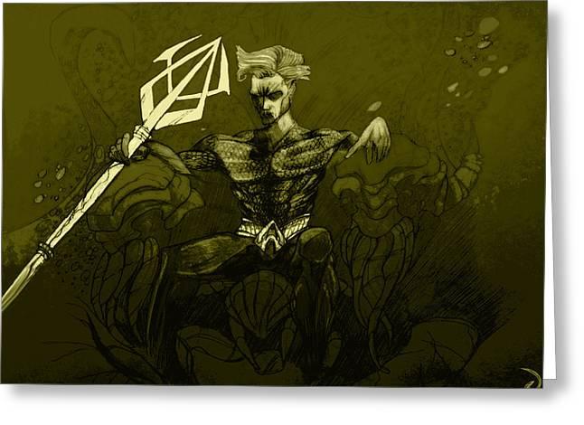 Aquaman Greeting Card by Jazzboy