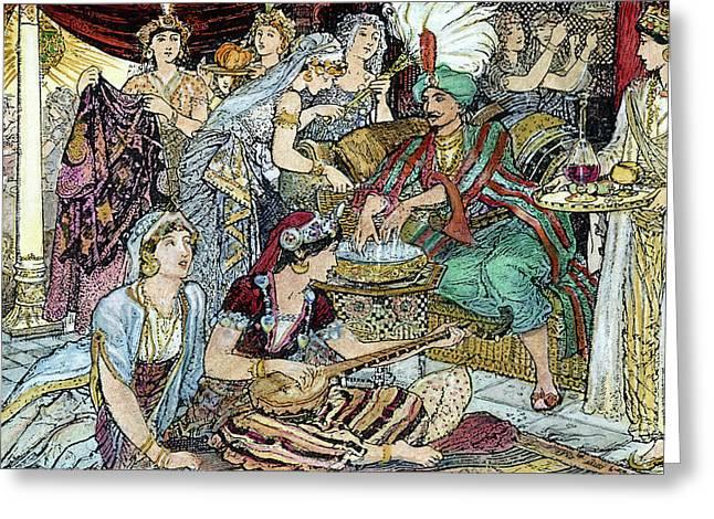 Arabian Nights Harem Greeting Card by Granger