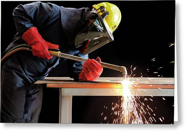 Arc Welder At Work Greeting Card