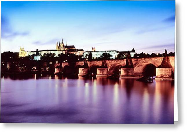 Arch Bridge Across A River Greeting Card by Panoramic Images