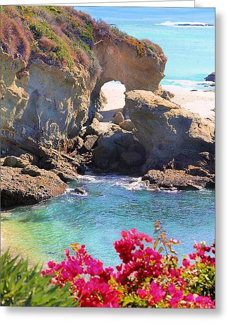 Arch Rock Laguna Greeting Card