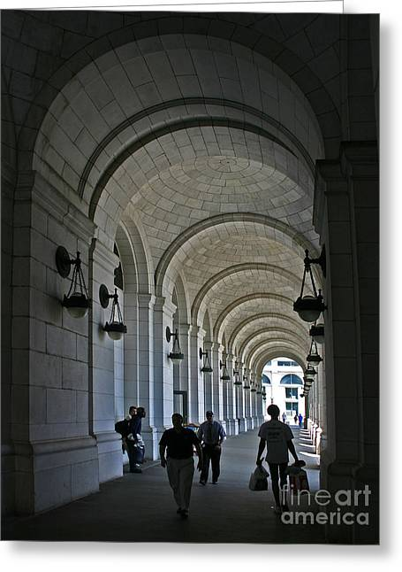 Arches Of Stone Greeting Card by ELDavis Photography