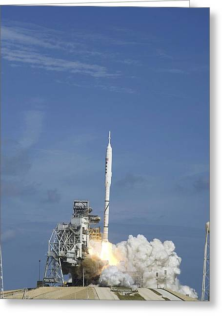 Ares I-x Test Rocket Launch Greeting Card by Science Photo Library