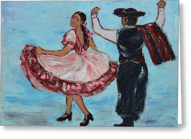 Argentinian Folk Dance Greeting Card by Xueling Zou