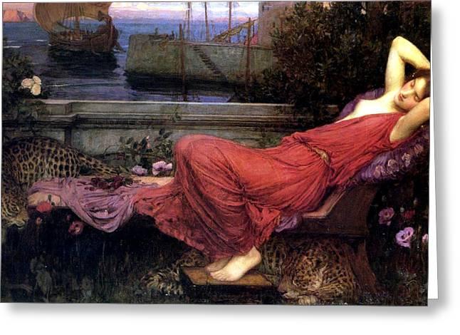 Ariadne Greeting Card by John William Waterhouse