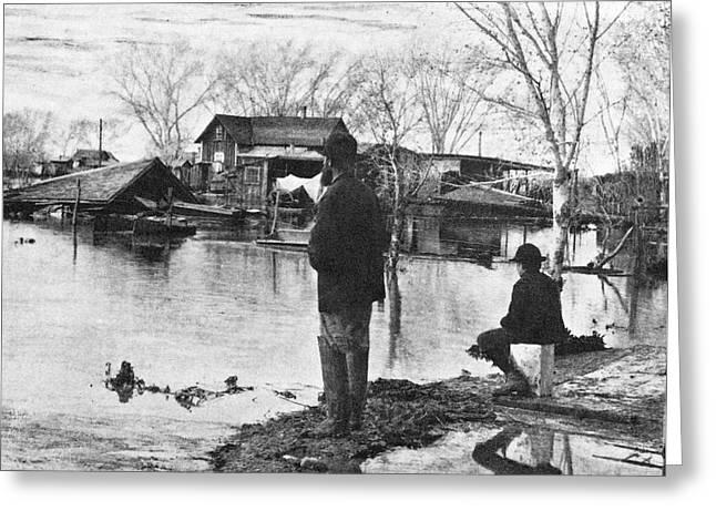 Arizona Flood, 1891 Greeting Card