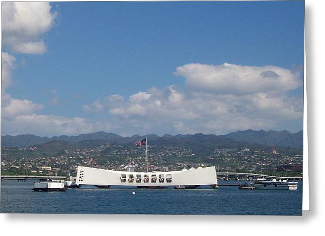 Arizona Memorial  Greeting Card by Kenneth Cole