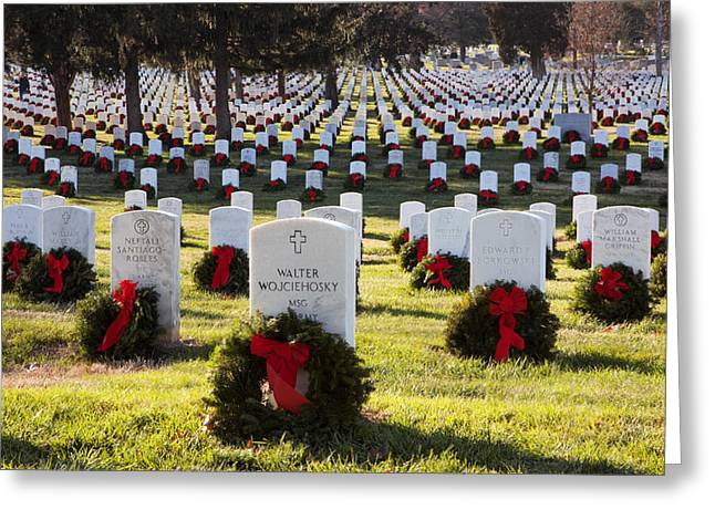 Arlington Cemetery Wreaths Greeting Card