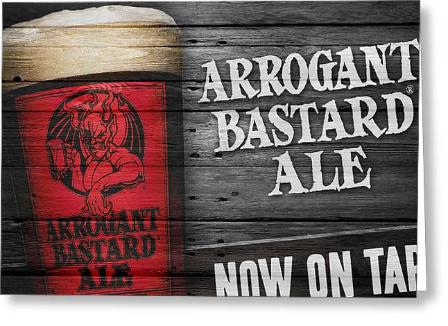 Arrogant Bastard Greeting Card