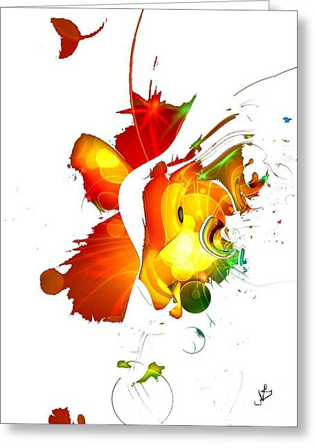 Art-abstract By Nico Bielow Greeting Card by Nico Bielow