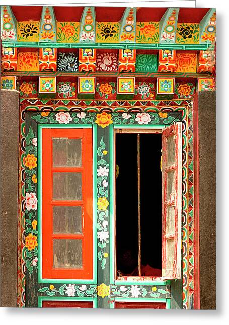 Art In Buddhist Monastery Architecture Greeting Card