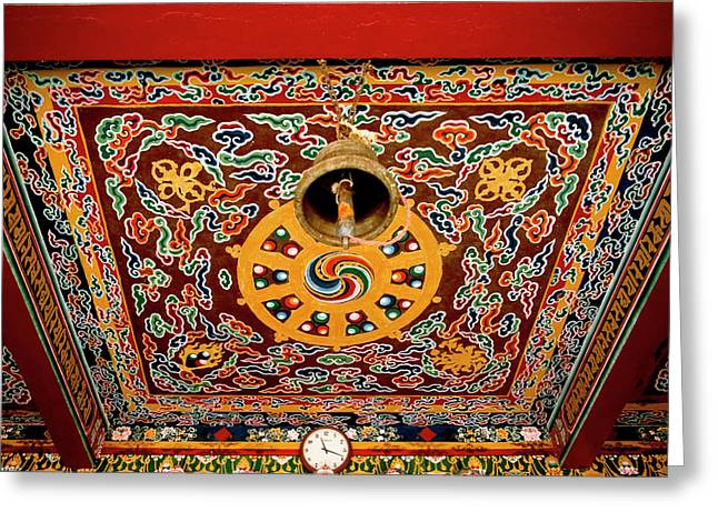 Art In The Architecture Of A Buddhist Greeting Card by Jaina Mishra