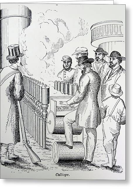 Arthur Denny's Steam Organ Greeting Card by Universal History Archive/uig