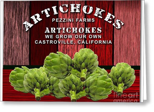 Artichokes Farm Greeting Card