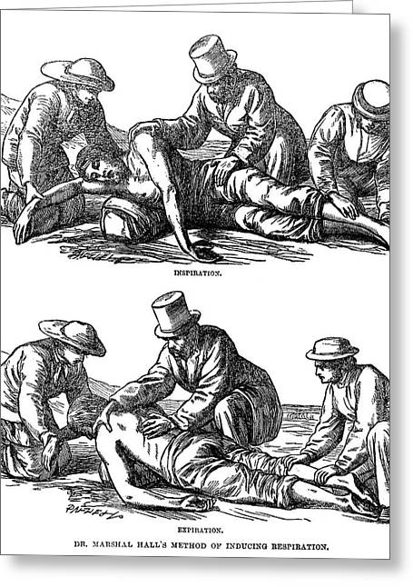Artificial Respiration, 1864 Greeting Card by Granger