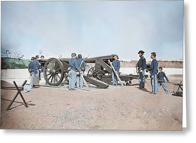 Artillery Drill In Fort Greeting Card