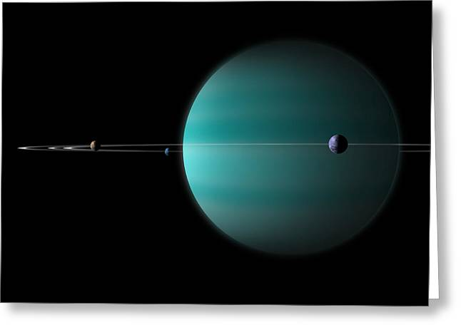 Artists Depiction Of A Ringed Gas Giant Greeting Card by Marc Ward