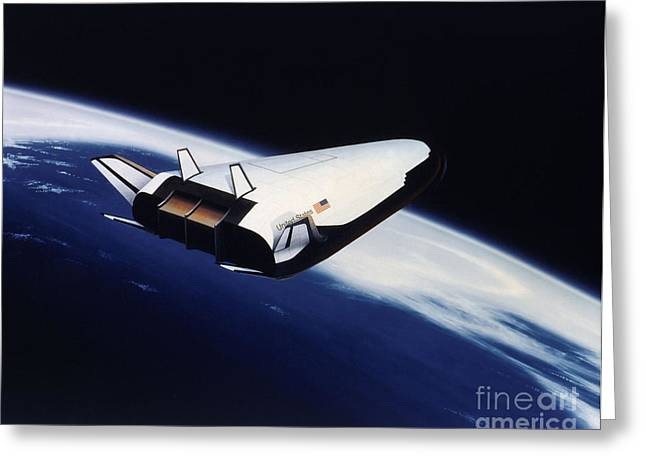 Artists Rendering Of The X-33 Reusable Greeting Card