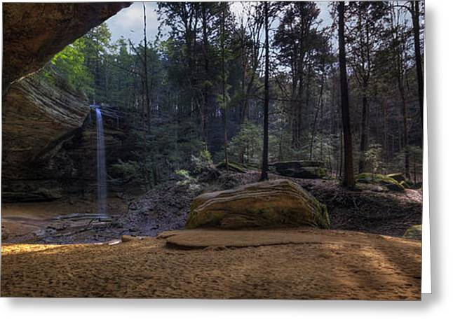 Ash Cave Panorama Greeting Card