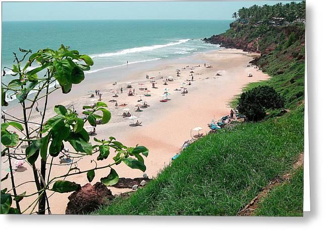 Asia, India, Kerala, Varkala Greeting Card by Steve Roxbury