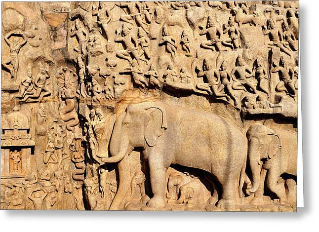 Asia, India, Tamil Nadu, Mahabalipuram Greeting Card by Steve Roxbury