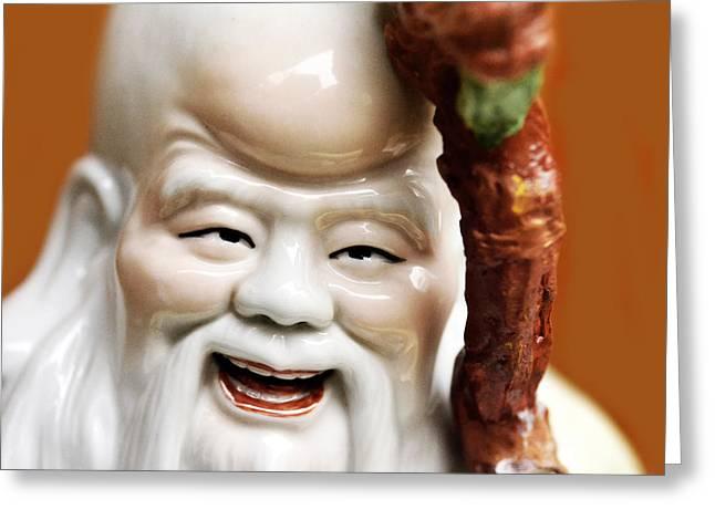 Asian Figurine Greeting Card