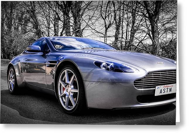Aston Martin V8 Vantage Greeting Card by Ian Hufton