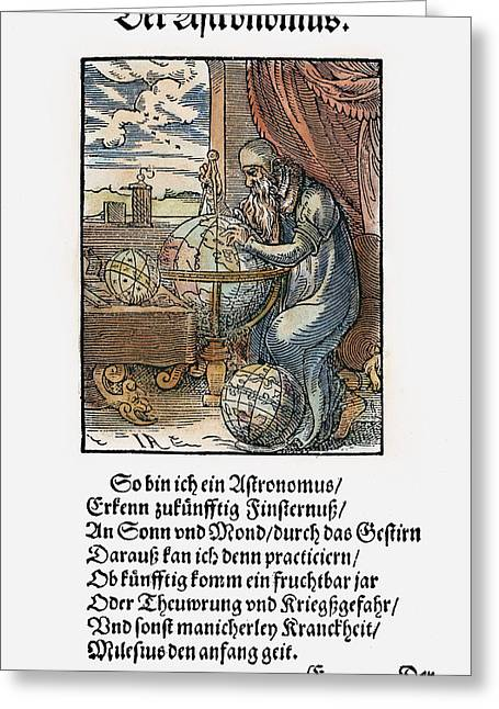Astronomer, 1568 Greeting Card by Granger