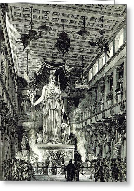 Athenian Acropolis, Parthenon Greeting Card by British Library