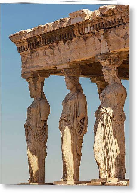 Athens, Attica, Greece. Porch Greeting Card