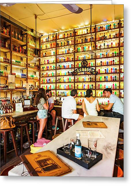 Athens, Greece.  Greek Drinks Greeting Card by Ken Welsh