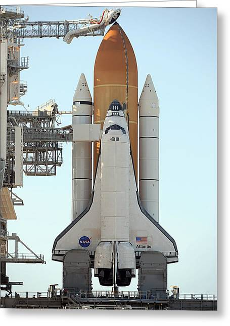 Atlantis Space Shuttle Greeting Card by Science Source