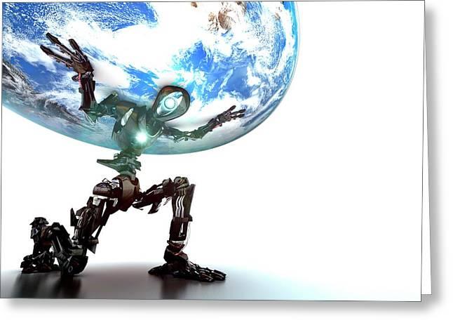 Atlas Robot Greeting Card by Animate4.com/science Photo Libary