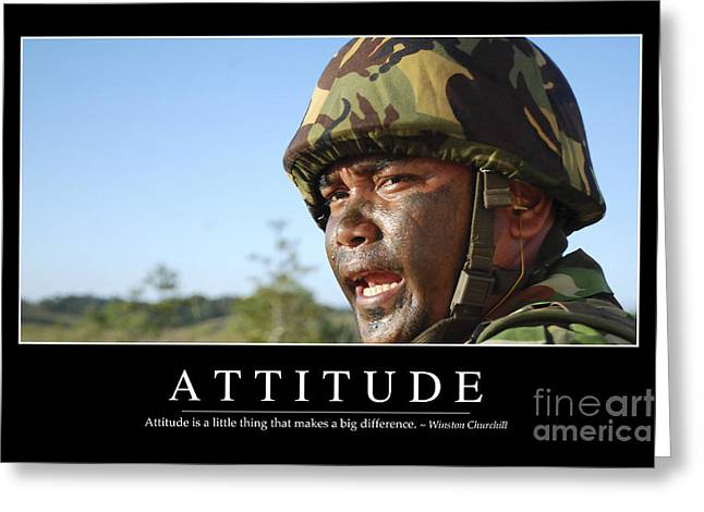 Attitude Inspirational Quote Greeting Card by Stocktrek Images