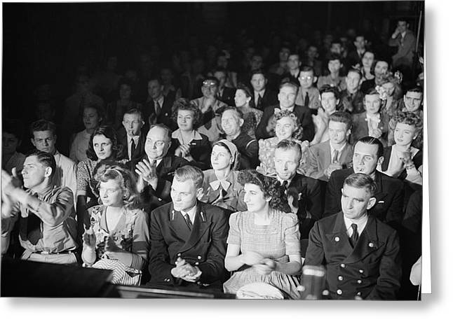 Audience At Merchant Marine Theature Greeting Card