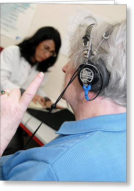 Audiometry Test Greeting Card by Aj Photo/science Photo Library