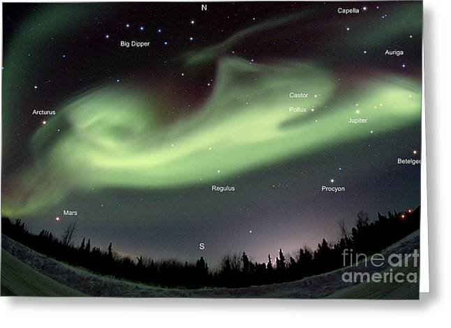 Aurora Borealis, Alaska, 3212014 Greeting Card by John Chumack