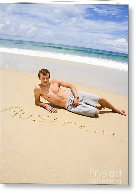 Aussie Fellow Greeting Card by Jorgo Photography - Wall Art Gallery