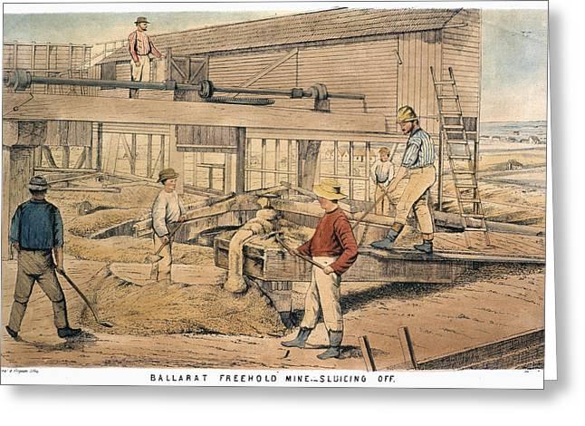 Australia Gold Mine, 1867 Greeting Card