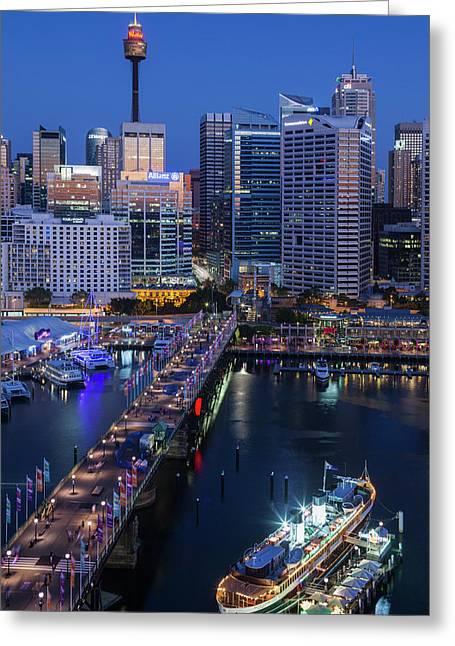 Australia, Sydney, Darling Harbor Greeting Card